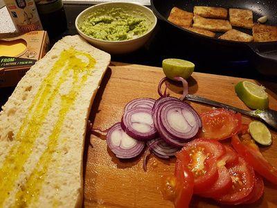 Zubereitung veganes Baguette Bild 1