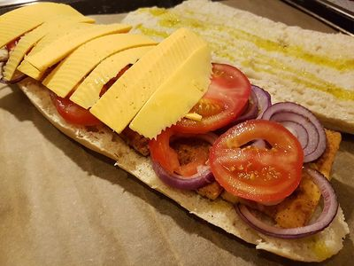 Zubereitung veganes Baguette Bild 4
