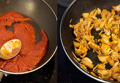 Zubereitung vegane Pulled Jackfrucht Wraps Schritt 2