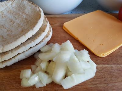 vegane Quesadilla-Taschen cheezig-mexikanisch Zutaten 4