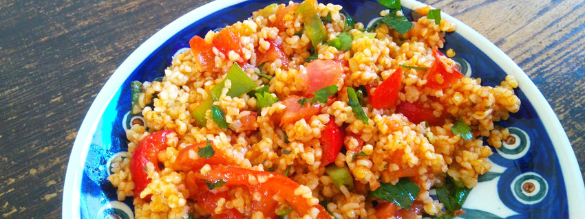 Rezept für veganen Bulgursalat