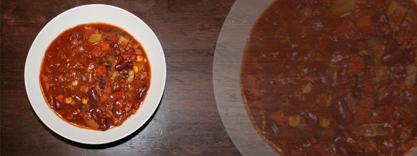 veganes Chili Sin Carne Rezept mit Sojagranulat