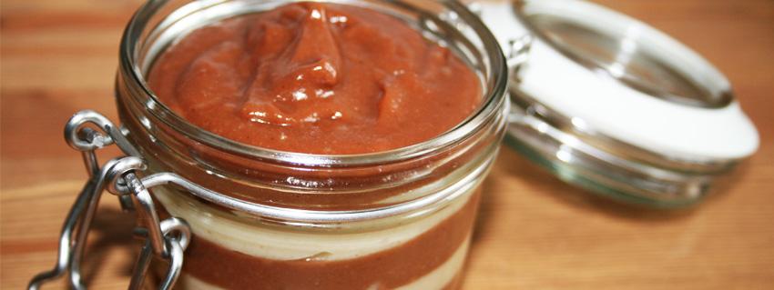 Rezept für vegane Cashew Creme als Brotaufstrich und für Pfannkuchen und Waffeln