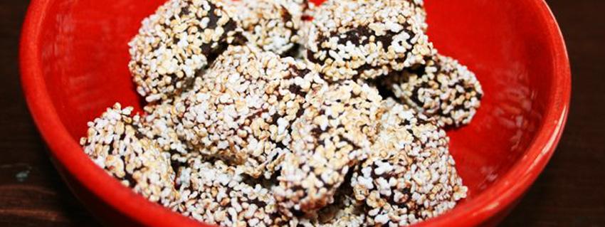 Rezept für veganes Eiskonfekt mit Amaranth