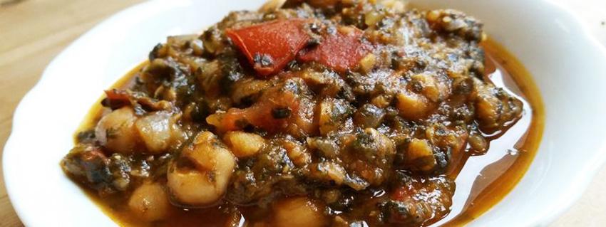 Rezept für Espinacas y garbanzos in vegan mit Spinat und Kichererbsen
