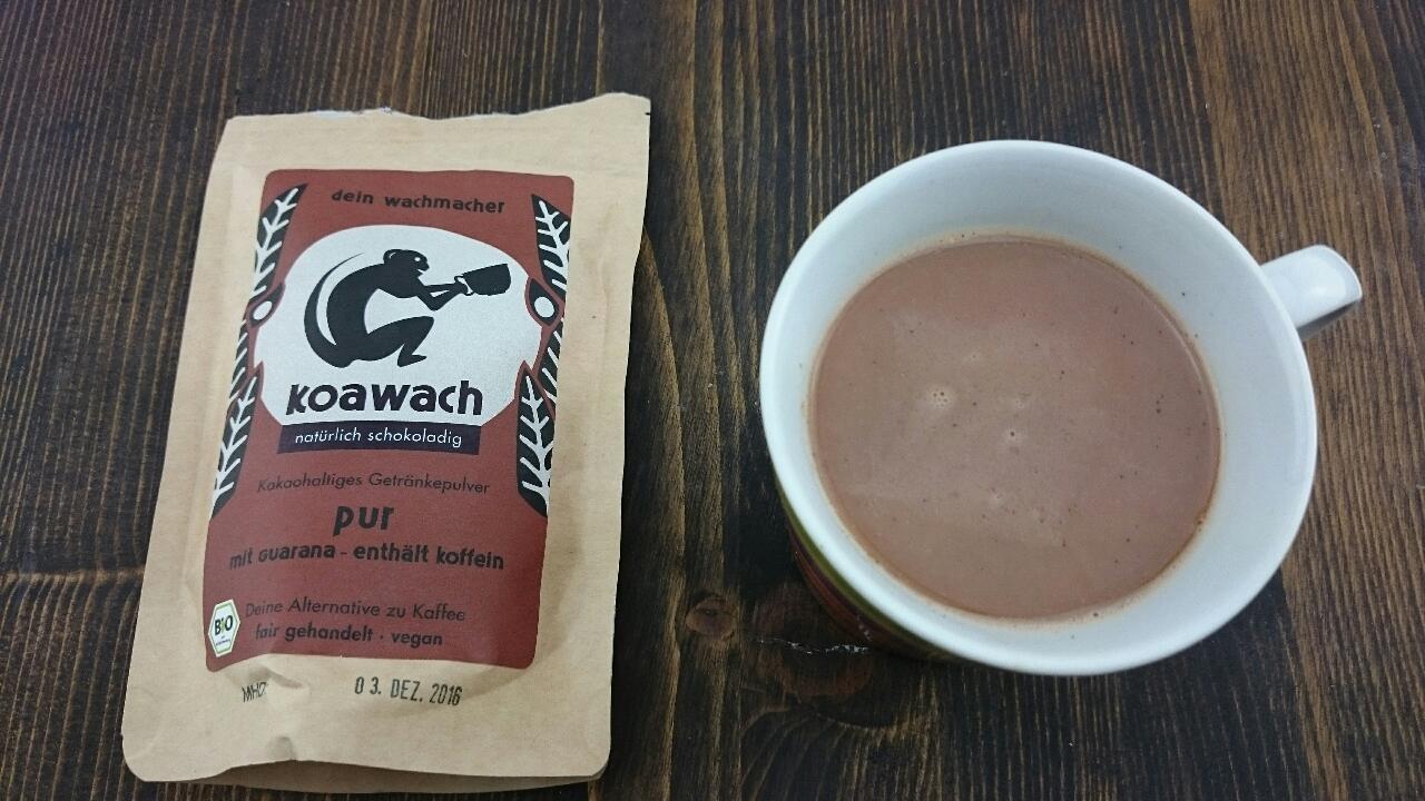 koawach Test Kakaopulver mit Guarana