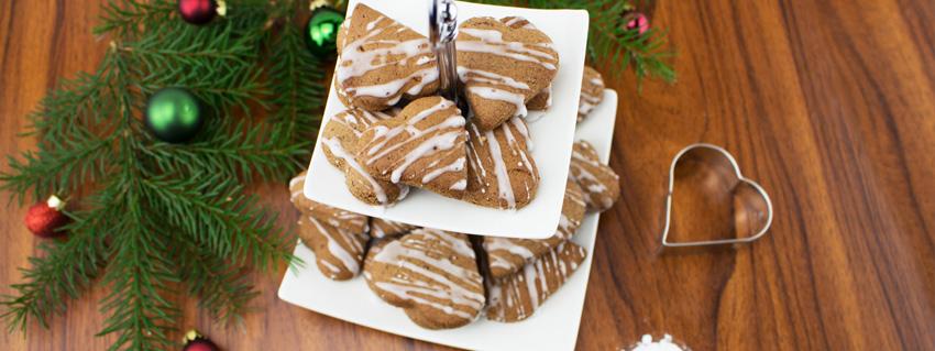 Rezept für vegane Lebkuchenherzen zu Weihnachten