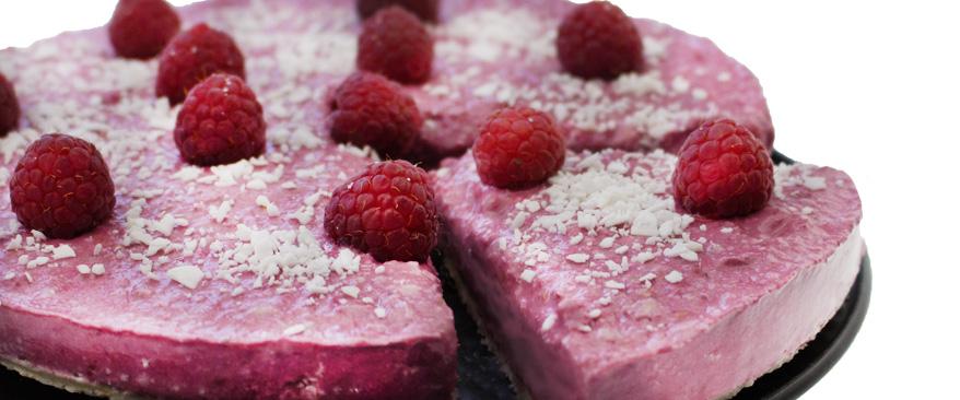 Himbeer Kokos Cheesecake