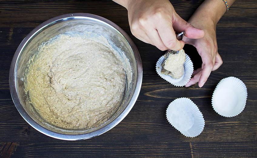 Zubereitung vegane Zitronen-Chia-Muffins