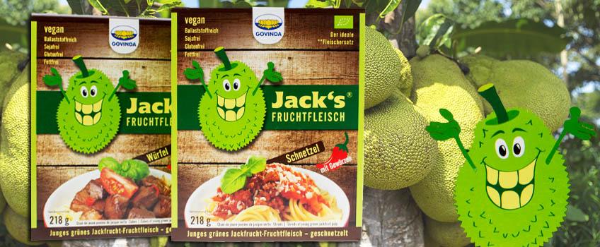 Govinda Jackfrucht Fruchtfleisch Würfel und Geschnetzeltes