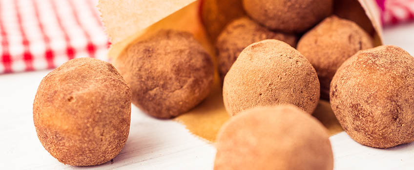Rezept für vegane Marzipankugeln