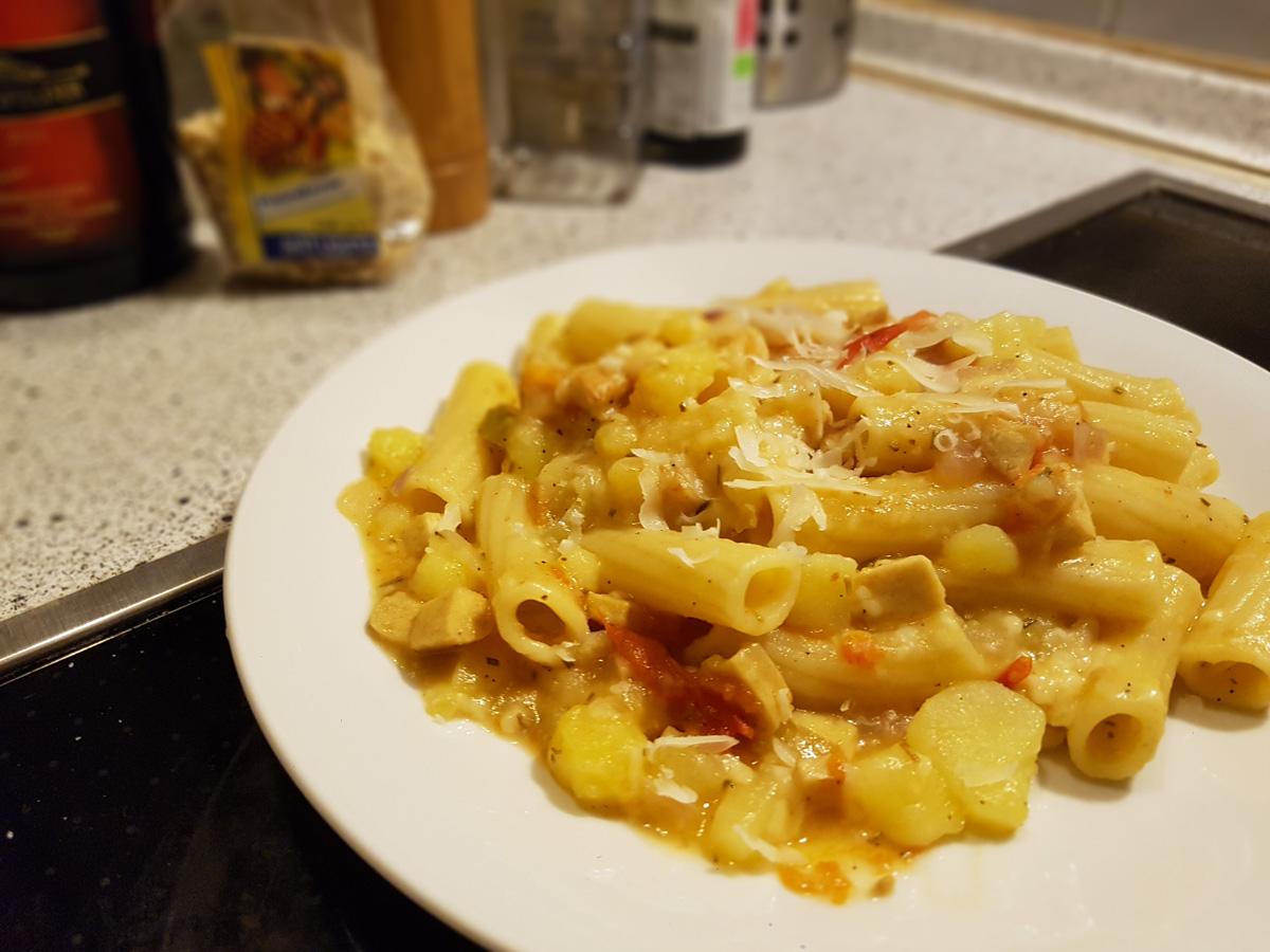 Rezept für Pasta Patata vegan